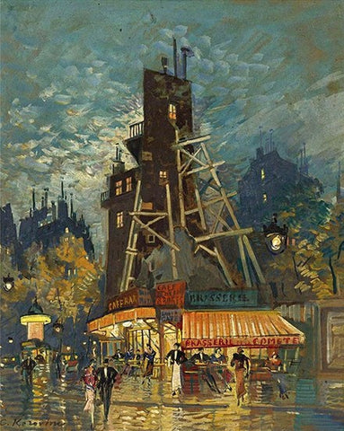 Good Night in front of Cafe At Paris- Cities Paint By Numbers
