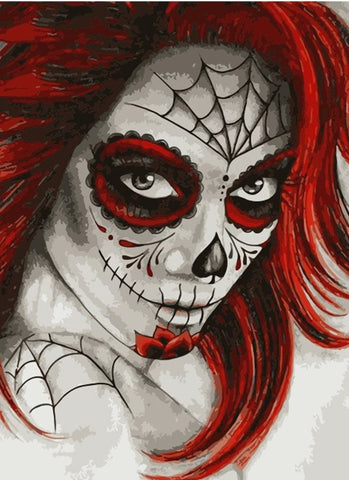 Scary Girl With Red Hair- People Paint By Numbers