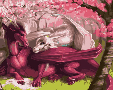 Dragons in Love - Animals Paint By Numbers
