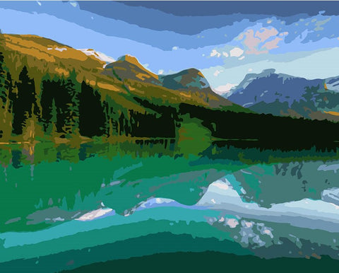 Canadian Lake - Landscape Paint By Numbers