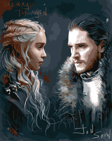 Jon and Daenerys - People Paint By Numbers