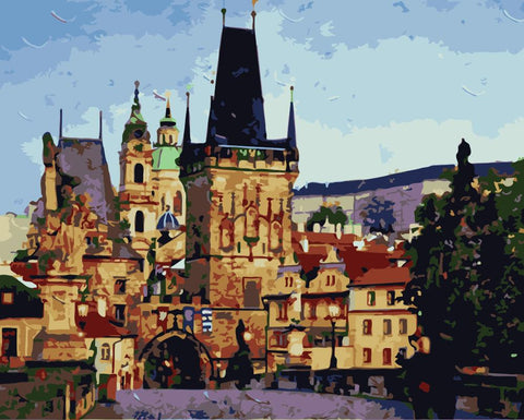 Arch bridge in Prague - Cities Paint By Numbers