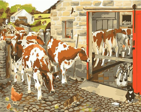 Cattle Factory- Animals Paint By Numbers