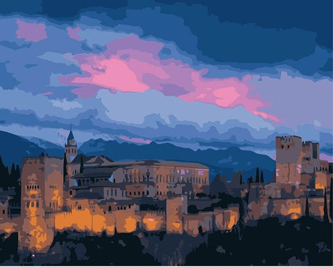 Carcassonne Castle - Cities Paint By Numbers