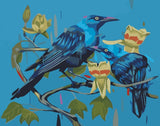 Blue Crows - Birds Paint By Numbers