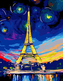 Paris And the Stars- Cities Paint By Numbers