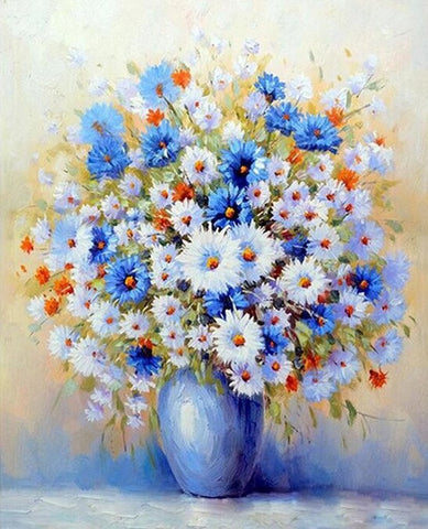Blue Gypsophila -  Flowers Paint By Numbers