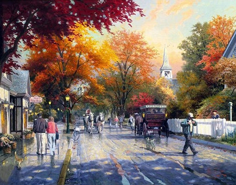 Autumn on Mackinac Island - Cities Paint By Numbers