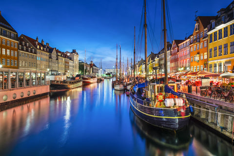 Copenhagen At Night - Cities Paint By Numbers