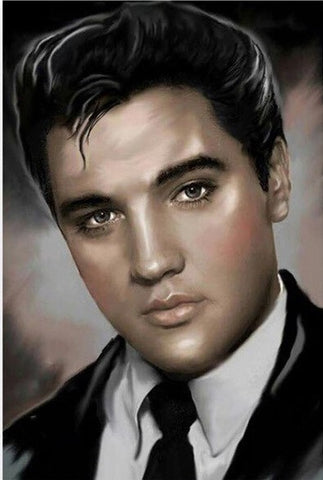 Young Elvis Presley- People Paint By Numbers