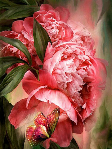 Butterfly Peony  - Flowers Paint By Numbers