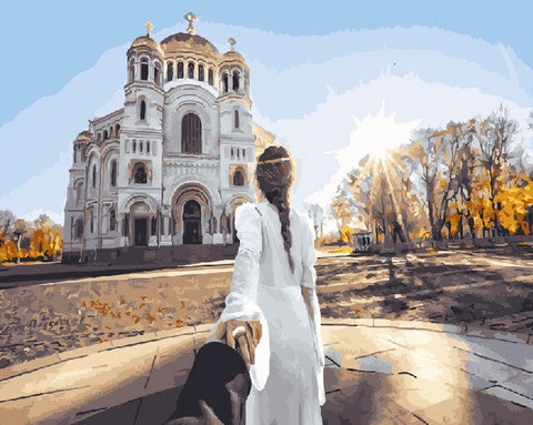 Follow Me to Moscow Temple- Cities Paint By Numbers