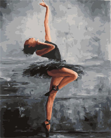 Ballerina in Black - People Paint By Numbers