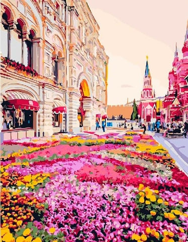 Moscow Flowers - Cities Paint By Numbers