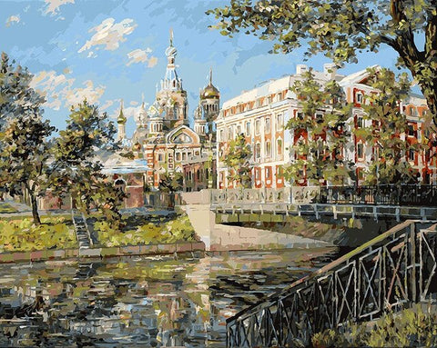 Moscow River - Cities Paint By Numbers