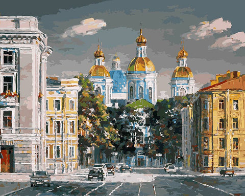 Theater Square Moscow- Cities Paint By Numbers