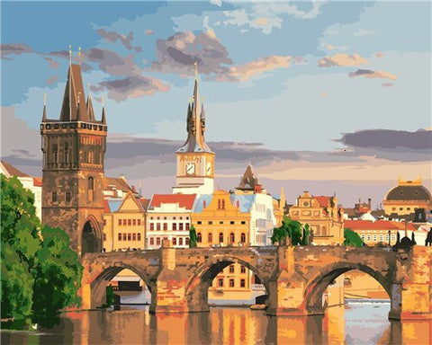 Charles Bridge Prague - Cities Paint By Numbers