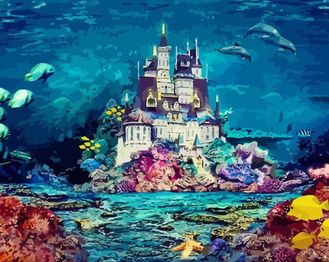 Castle Under The Sea - Seascape Paint By Numbers