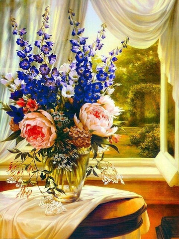 Blooming Floral Vase  - Flowers Paint By Numbers