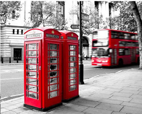 London Telephone Booth- Cities Paint By Numbers