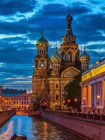 St Petersburg Night - Cities Paint By Numbers