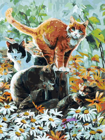 Group of Cats  - Animals Paint By Numbers