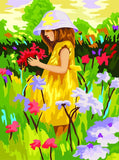 Girl in Yellow Dress- People Paint By Numbers