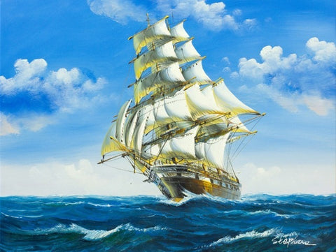 Flying P-Liner Ship- Seascape Paint By Numbers
