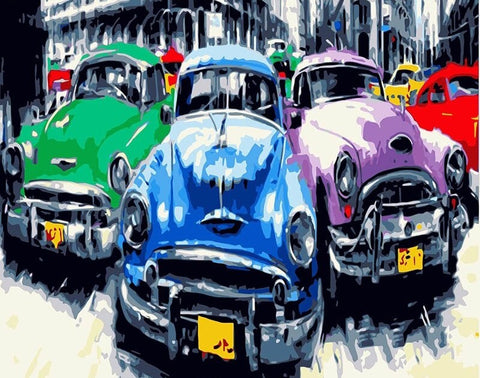 Antique Car in Havana - Cities Paint By Numbers