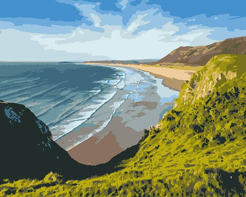 Heights Coast  - Landscape Paint By Numbers