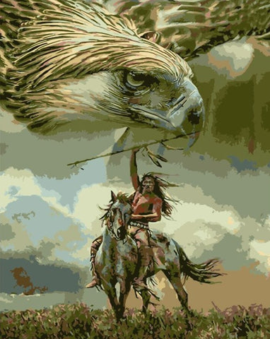 The Eagle and the Hunter- People Paint By Numbers