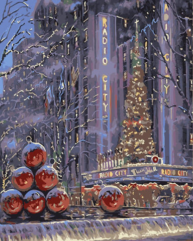 Christmas Night in New York - Cities Paint By Numbers
