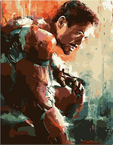 Iron Man - People Paint By Numbers