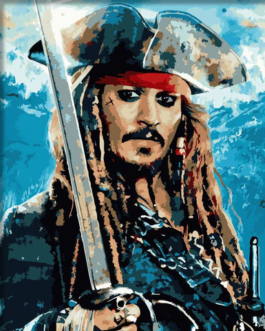 Jack Sparrow - DIY Paint By Numbers - Numeral Paint