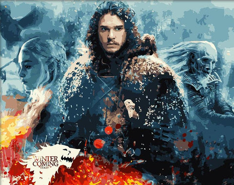 Jon Snow - DIY Paint By Numbers - Numeral Paint