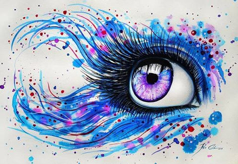 Multi Colored Eyes- People Paint By Numbers