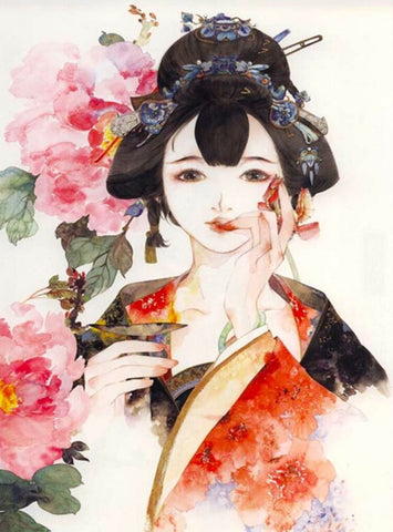 Japanese Woman - DIY Paint By Numbers
