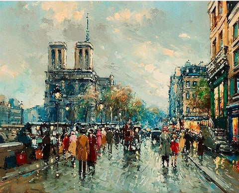 Oldest Street of Notre Dame Paris- Cities Paint By Numbers