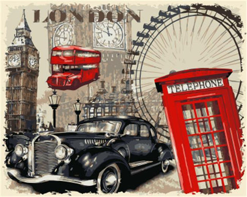 London Landmarks - Cities Paint By Numbers
