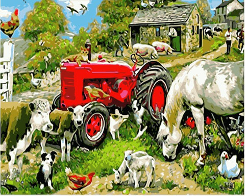 Farmer Animals- Animals Paint By Numbers