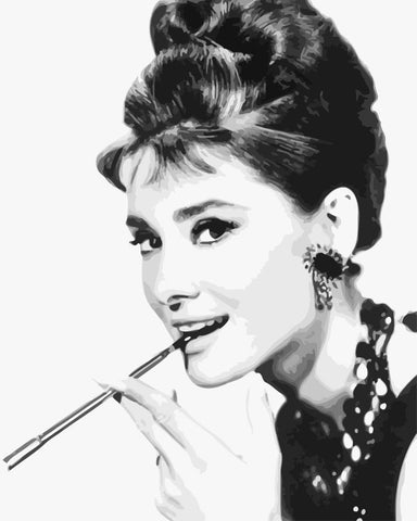 Charming Audrey Hepburn- People Paint By Numbers