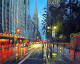 New York Moment in The Rain- Cities Paint By Numbers