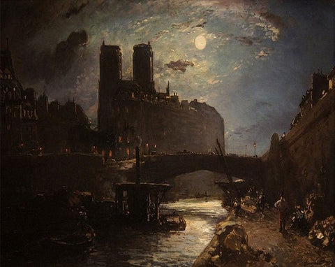 Paris by Moonlight- Cities Paint By Numbers