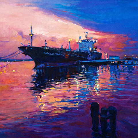 Ship Sea Sunset - Seascape Paint By Numbers