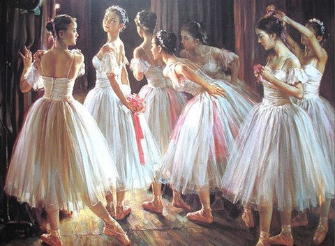 Group of Dancing Girls - People Paint By Numbers