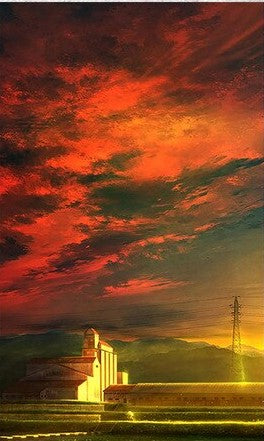 Amazing Red Clouds- Landscape Paint By Numbers