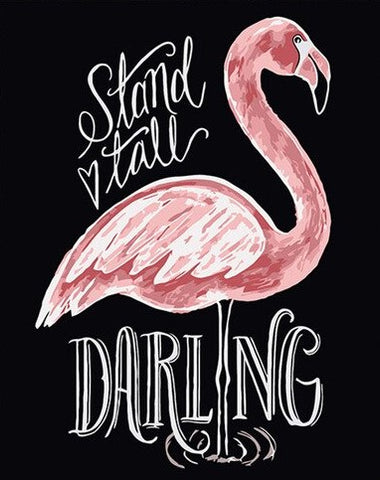 Flamingo Poster - Birds Paint By Numbers