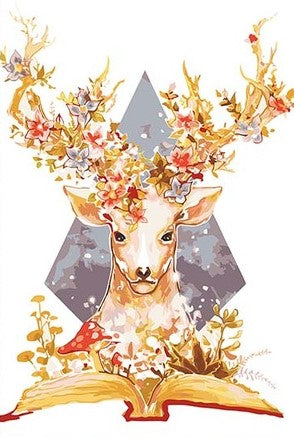 Deer Book - Animals Paint By Numbers