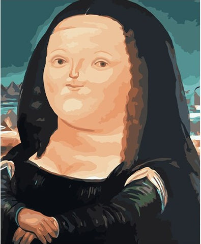 Fat Mona Lisa- People Paint By Numbers