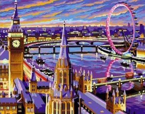 London Eye and Big Ben  - Cities Paint By Numbers